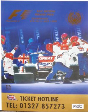 BRITISH GP 1999 Silverstone original F1 poster 23x17 inch (590x420mm)